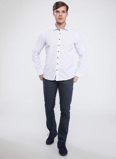DeFacto Modern Fit Kolay Ütülenebilir Gömlek Beyaz